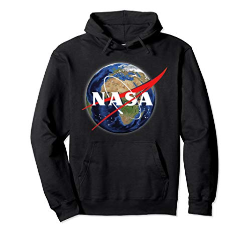 (NASA Earth Globe - Space Exploration - Classic Vintage Pullover Hoodie)