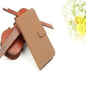 conseguir Caja del cuero del patrón de lujo de la carpeta para el iPhone 5/5S (colores surtidos) , Marrón