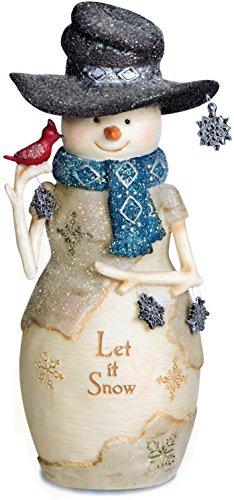 (Pavilion- Let it Snow Snowman Figurine Christmas Decor Gift)