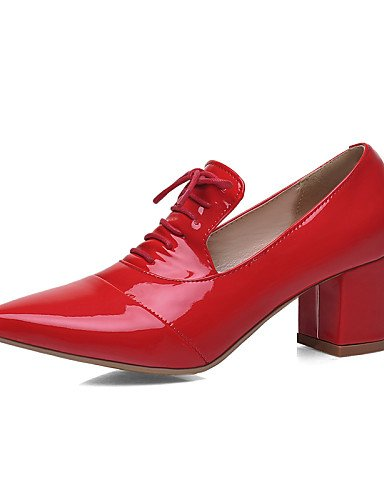 Semicuero De negro Red Oxfords Eu40 Y Puntiagudos Tacón Zapatos us9 Zq Pink us9 Uk7 Trabajo Robusto Vestido Casual Cn41 Oficina Comfort Mujer Exterior 5qSa0Z6