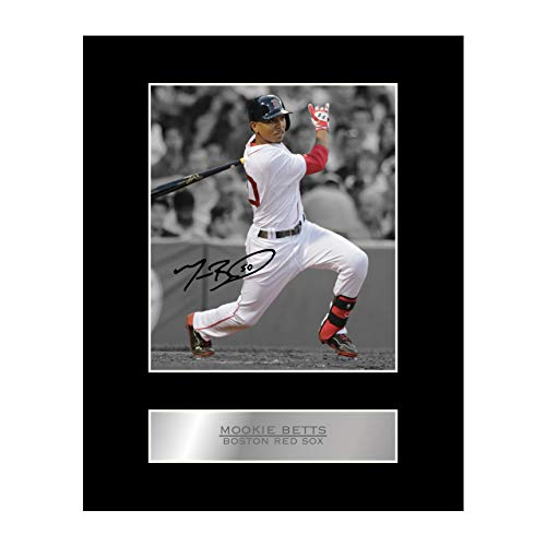Mookie Betts Signed Mounted Photo Display Boston Red sox MLB Autographed Gift Picture Print