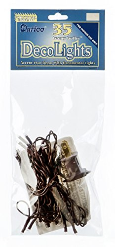 CWI Gifts 35 Count Teeny Lights, Brown (Count 35 Lights String)