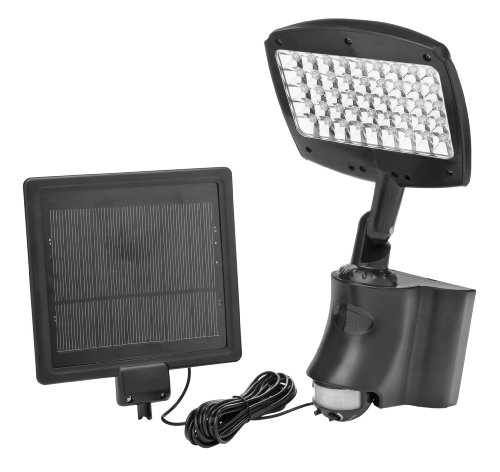 - Designers Edge L955 45 LED Rechargeable Motion Activated Solar Flood Light, Black