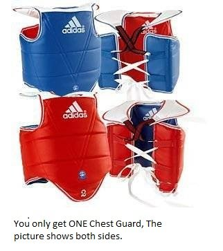 Adidas Chest Protector - Adidas WTF TaeKwonDo Solid Reversible Chest Protector - Medium
