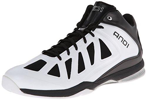 Et 1 Chaussure De Basketball Midlash Pour Homme, Blanc / Noir / Argent