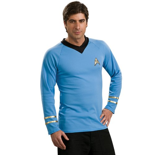 Rubie's Classic Star Trek Deluxe Spock Adult Costume Shirt, Small -