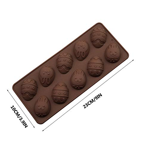 Hot Chocolate Bomb Mold Leyerer Easter Cake Mould Cracked Chocolate Mold DIY Easter Baking Tool Ice Mold Multiple Styles (A)