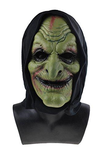 Goblin Witch Wizard Soft PU Mask Horror Masks Evil Halloween Costume Fancy Dress Up -