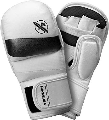 Hayabusa   T3 Hybrid 7oz Kickboxing and MMA Gloves   Men and Women   White/Black  Large