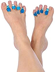Gel Toe Separators & Straightener Spacer (1-Pair) -Hammer Toe-Bunion Relief-Yoga and Sports Activities for Relaxing Toes