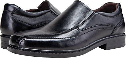 Square Men's JOUSEN Toe Formal Shoes Dress Leather Loafers Black 6qROw