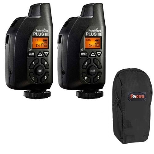 PocketWizard 801-130 Plus III Transceiver (2-Pack with Case)
