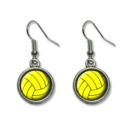 Water Polo Water Polo Ball Novelty Dangling Dangle Drop Charm Earrings
