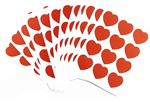 - Red Heart Stickers 1 Inch Peel Off Adhesive Labels Love Sweet Heart Shape Crafting Scrapbooking Envelope Seals Wedding Valentine's Day Christmas Gift Decals for Kids 720PCS