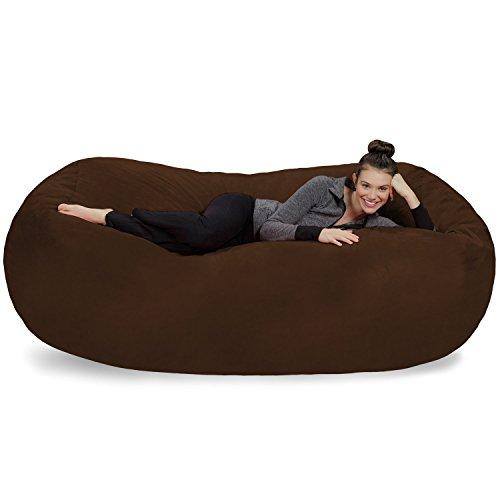 Sofa Sack-Bean BagsGiant Bean Bag Lounger, 7.5', Chocolate by Sofa Sack - Bean Bags