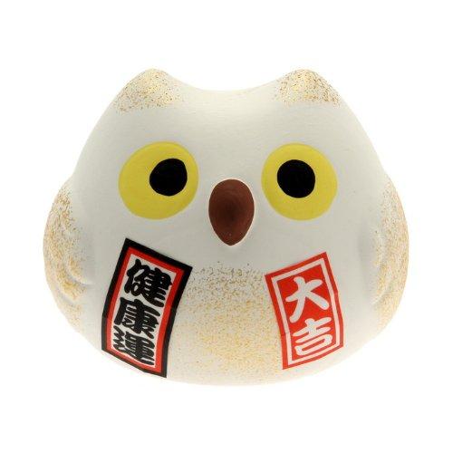 Kotobuki Fukuro Owl Charm Kenkoh-un Collectible Figurine, Good Health, - Lucky Owl