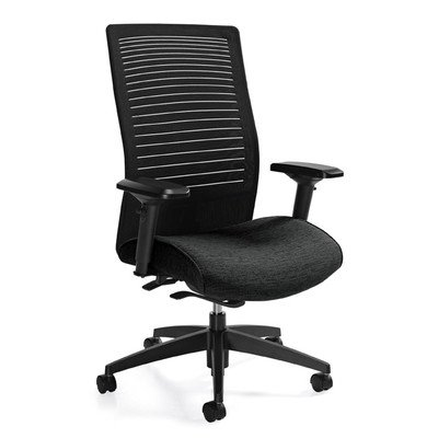 Tilter Task Chair (High Back Mesh Chair with Weight Sensing Synchro-Tilter Color: Black Coal)