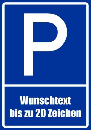 Wunschtext bis zu 20 Zeichen nach Wahl Alu Verbund kein PVC! 21 x 15cm Kiwistar Parkplatzschild