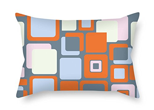 eyeselect Colorful Geometry Throw Pillow Case 20 X 26 Inches / 50 by 65 cm Gift Or Decor for Gf Him Valentine Drawing Room Club Kids Girls - Two Sides for Christmas -