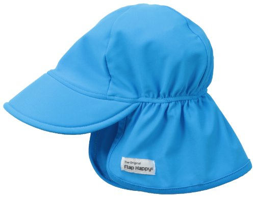 Flap Happy Baby Girls' UPF 50+ Swim Flap Hat, Ocean, Large