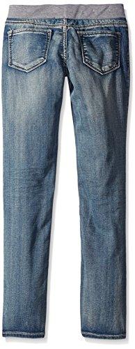 VIGOSS Girls' Knit Waist Skinny Denim Jean, Splash Away, 5 by VIGOSS (Image #2)