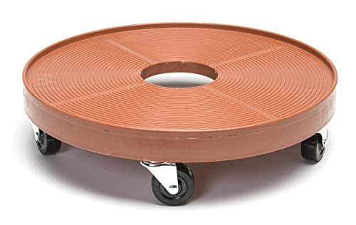 DeVault DEV3000P 16 Inch Plant Dolly with Hole Terra Cotta (Rolling Plant Stand 24)