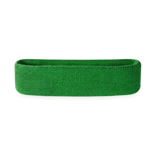 [Suddora Kids Headband (Multiple Colors Available)Athletic Cotton Terry Cloth Head Sweatband for Sports (Green)] (Best Marathon Running Costumes)