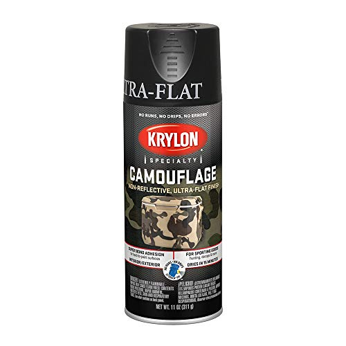 Krylon K04290007 Camouflage Made with Fusion For Plastic Paint Technology Spray Paint, Black, 11 Ounce ()