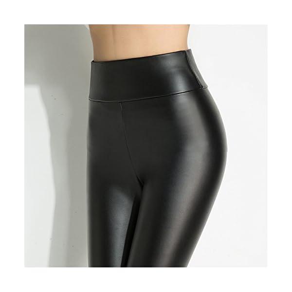 Hitueu Leggings de Dames, Leggings à Taille Haute Pantyhose Treggins Leggings Leggings en Cuir synthétique Look en Cuir…