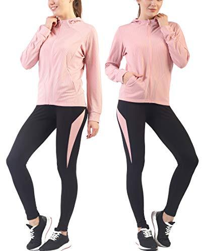 Active Wear Sets for Women -Workout Clothes Gym Wear TracksuitsYoga Jogging Track Outfit Legging Jacket 2 Pieces Set (Jacket Outfit Set)