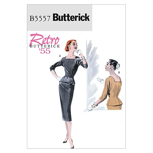 1950s Sewing Patterns | Dresses, Skirts, Tops, Mens 1955 BUTTERICK PATTERNS B5557 Misses Top and Skirt Size AA (6-8-10-12) $9.99 AT vintagedancer.com
