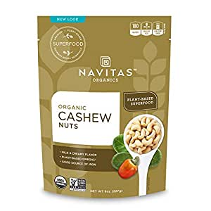 NAVITAS NUT CASHEW ORG 8OZ