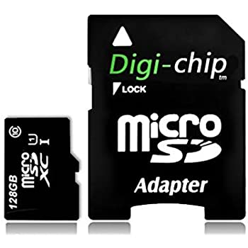 Digi Chip 128GB Micro-SD Memory Card for Motorola Moto G4, G4 Play, G4 Plus, Moto Z, Moto Z Force Cell Phones