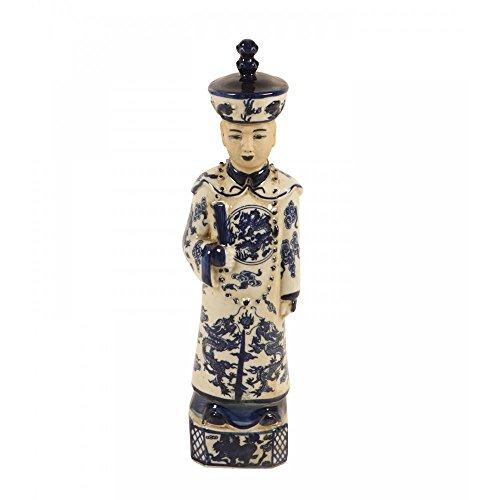 Escultura Decorativa Imperador de Porcelana Tian