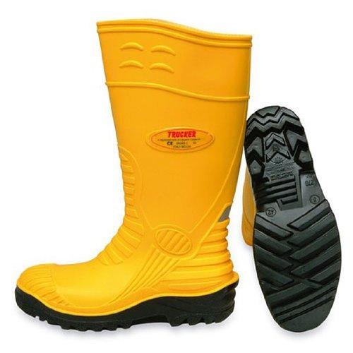 Trucker alimentos amarillo botas de seguridad - tamaño 12: Amazon.es: Jardín