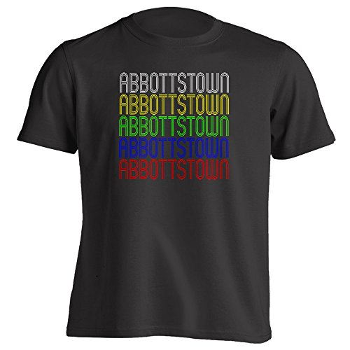 Retro Hometown - Abbottstown, PA 17301 - Black - Large - Vintage - Unisex - T-Shirt