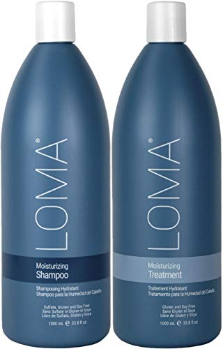 Loma Hair Care Moisturizing Shampoo Moisturizing Treatment Duo, 33 oz, Package may vary