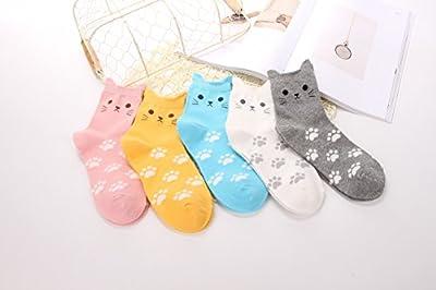5 Pairs Women's Cute Animals Socks for Girls Funny Funky Novelty Socks