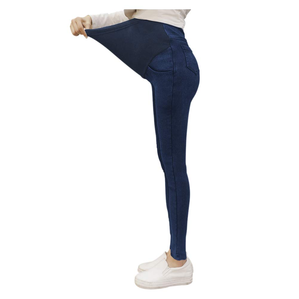 Goyajun Mutterschaft Jeans Schwangere Hosen Mode Schwanger Frauen Elastisch Hosen Hohe Taille Leggings Jeggings