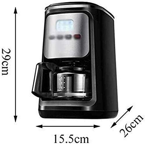 Dsnmm Cafetera Americana Máquina de café Grano de Polvo de Doble ...