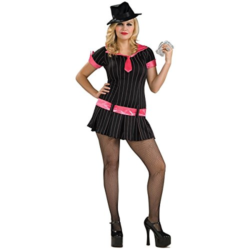 [Gangsta Girl Costume - Plus Size - Dress Size 16-22] (Lady Reaper Adult Plus Size Costumes)