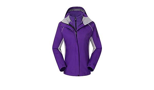 HUA&X Untar la mujer chaqueta impermeable de Esquí paraviento cremallera cálida piscina ,púrpura,XXL: Amazon.es: Ropa y accesorios
