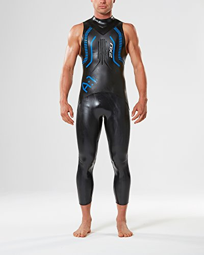 2XU Men's A:1 Active Sleeveless Wetsuit, Small/Medium, Black/Cobalt Blue by 2XU (Image #3)