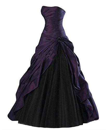 Ball Taft einem emmani dass mit Deep Bosom Purple Damen Kleid EqcwZwFAC