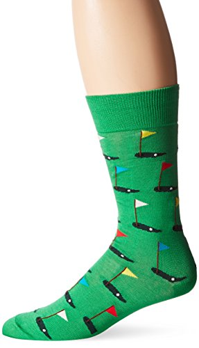 Hot Sox Men's Novelty Sporting Crew, Golf (Green), Sock Size: 10-13 / Shoe Size: 6-12