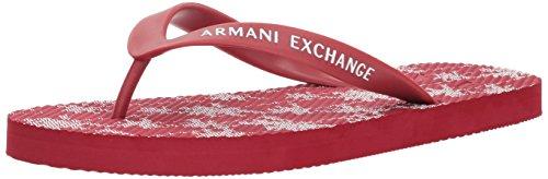 A|X Armani Exchange Men's Printed Graphic Flip Flop, Tropical Chili Pepper, 11 Medium US (Flip Flops Armani Exchange Men)
