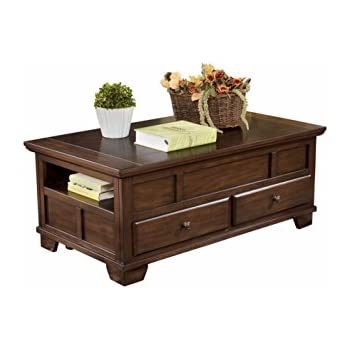 Amazon Com Lift Top Coffee Table In Cherry Finish With