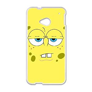 HTC One M7 Cell Phone Case White Sponge Bob OWN Personalised Phone Cover