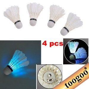 TOOGOO (R) LED Badminton Volante (Una Caja de 4 Piezas)