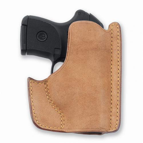 Galco Front Pocket Horsehide Holster Ruger Lcp W/CTC Laserguard Natural Ph486 ()